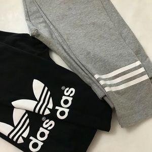 Set of two adidas leggings
